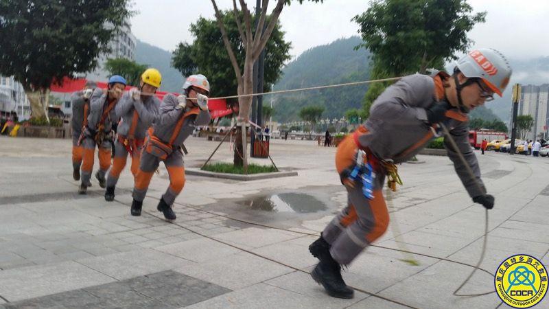 奥特多救援队彭水县摩围金盾2018防空袭综合演练